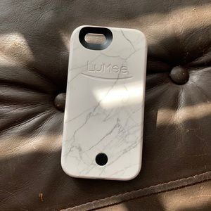 White Marble LuMee Phone Case